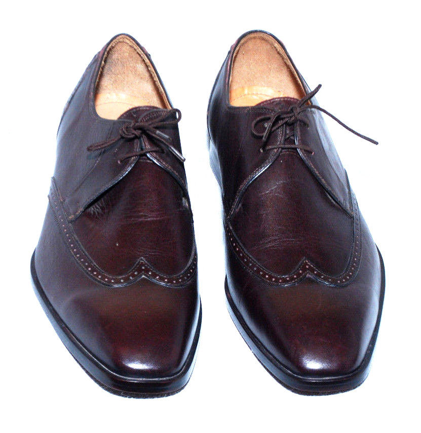 handmade mens brown derby oxford leather sole dress shoes
