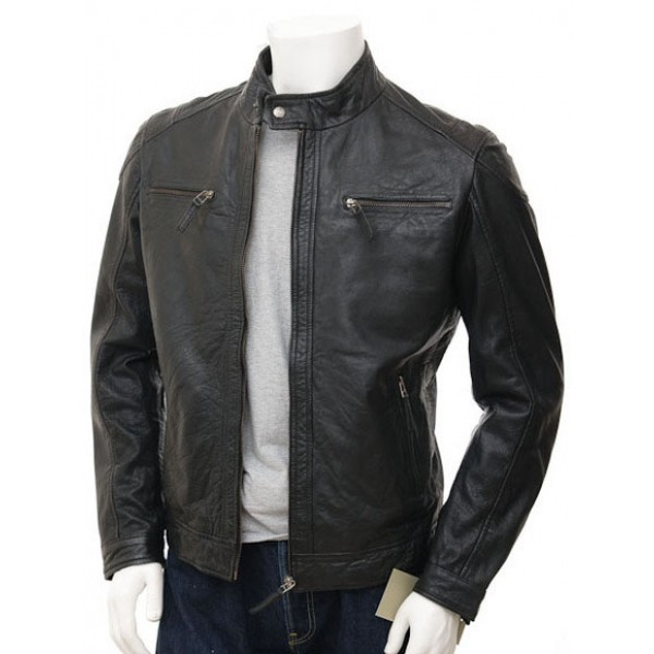 Mens Designer Leather Biker Jackets - Jacket
