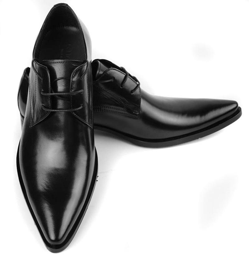 Men Formal Shoes Leather Derby and Oxfords (Black)(Export ...